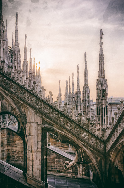 Walking the Roof of Il Duomo at Sunset