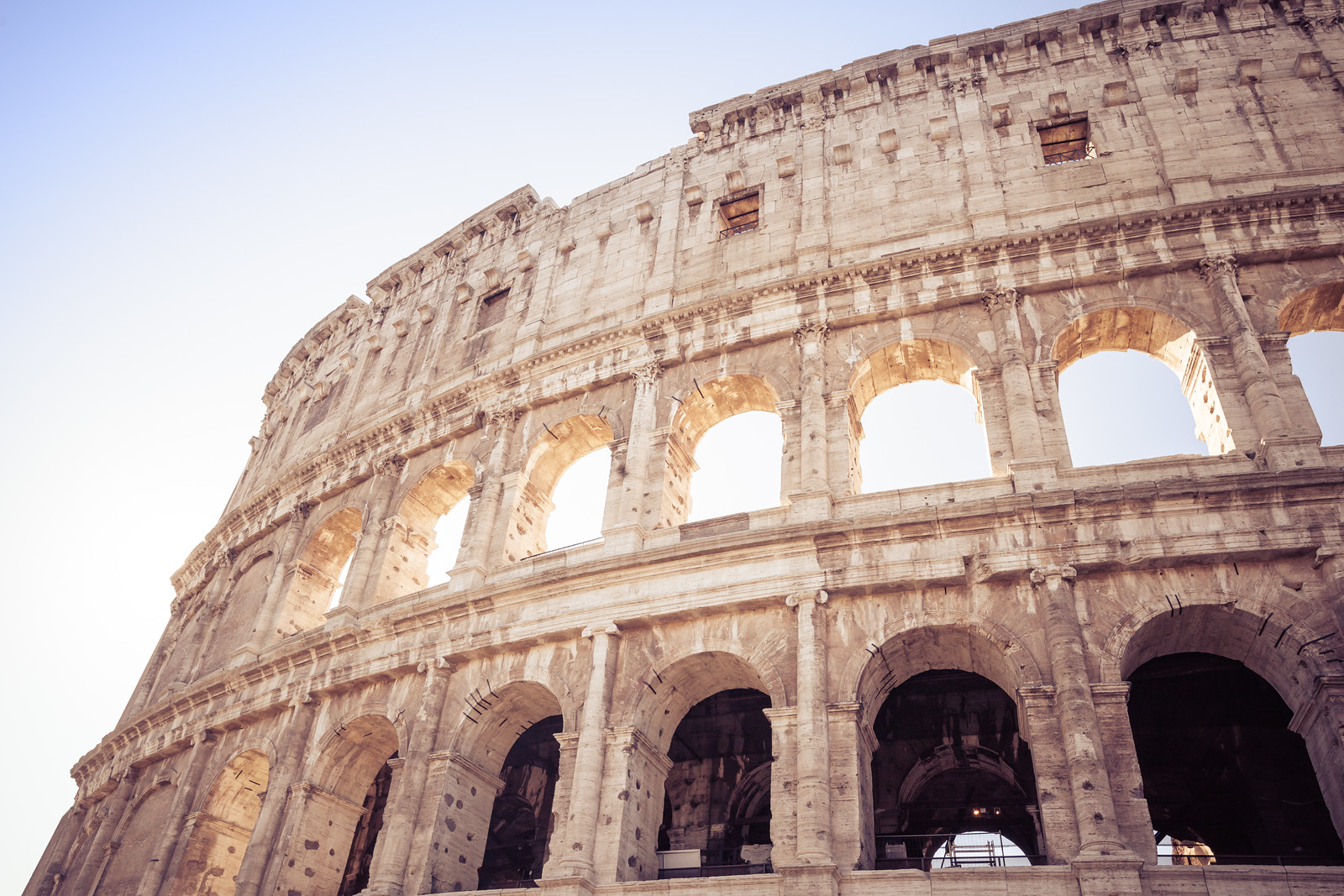 Outside the Colosseum in Rome