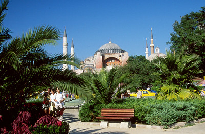 Haga Sofia in Istanbul.  Originally a Church.  Later converted to a Mosque.