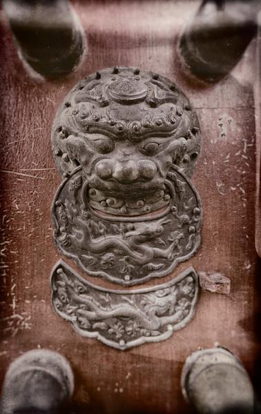 Door Accent in the Forbidden City Bejing China