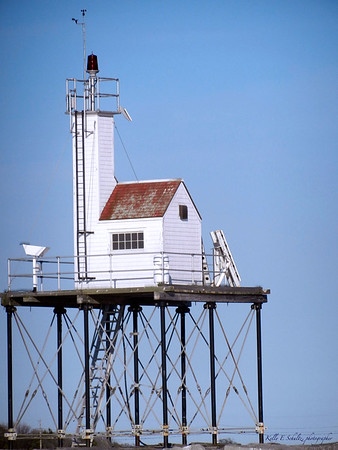 Whaling watching off the coast of Glouster, MA<br /> Light house off Glouster<br /> May 2012