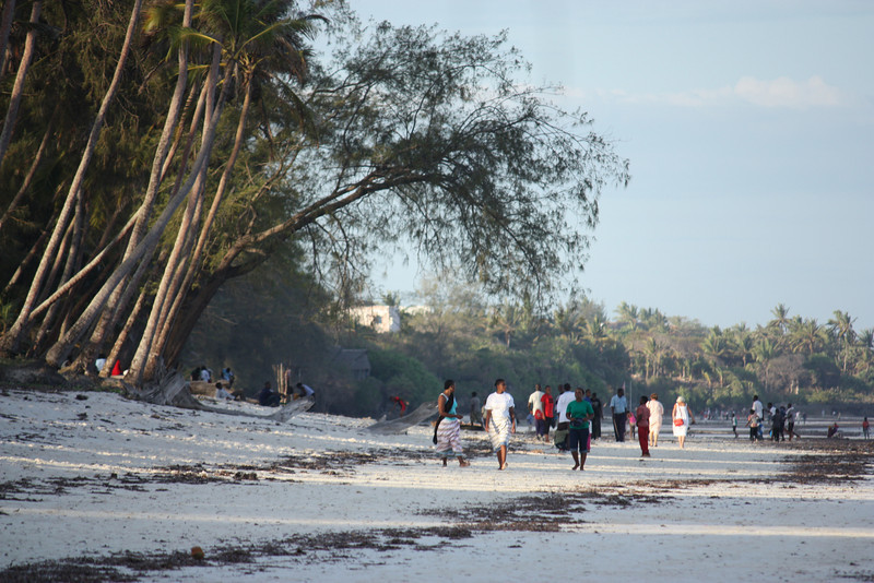 Evening strolls, Diani beach, Kenya