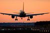 US Airways Airbus 319 landing at Washington Reagan National Airport