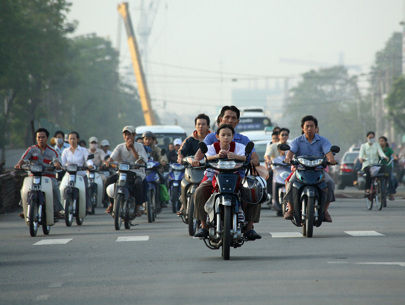 The commute in Ho Chi Minh City