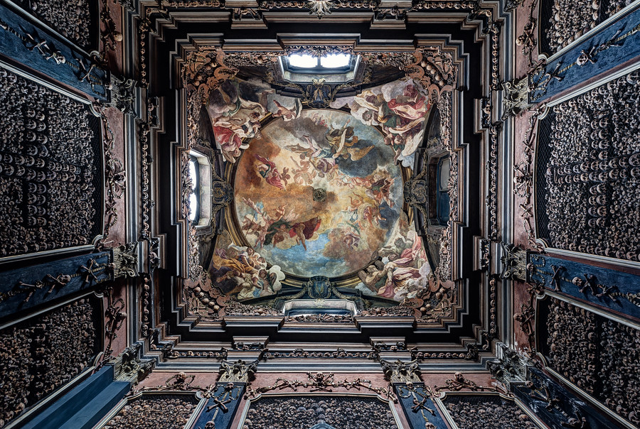 The Ossuary of San Bernardino alle Ossa in Milan, Italy