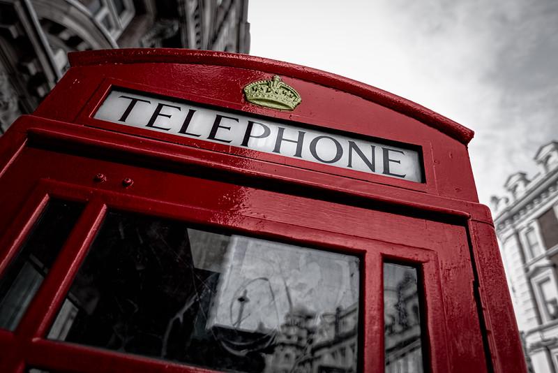 Red Telephone Box London, England