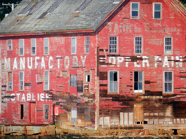 An old building in the Glouster Harbor.  It is being restored!<br /> Whaling watching off the coast of Glouster, MA<br /> May 2012