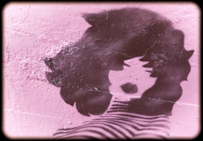 Female Stencil Street Art in Buenos Aires, Argentina