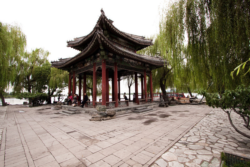 A little pavilion at the Summer Palace in Bejing.