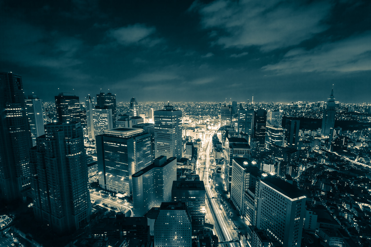 Tokyo, A Black and White Night