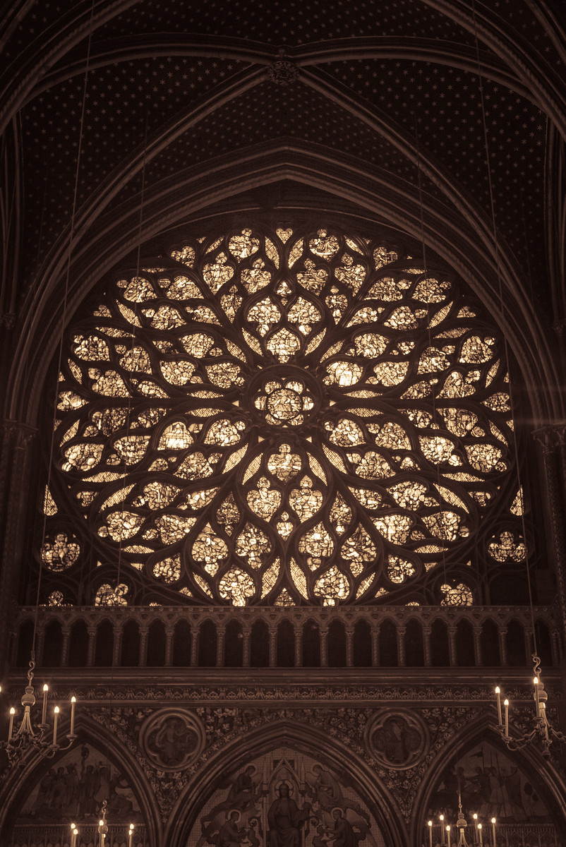 Rose Window of Sainte Chapelle, Paris, France