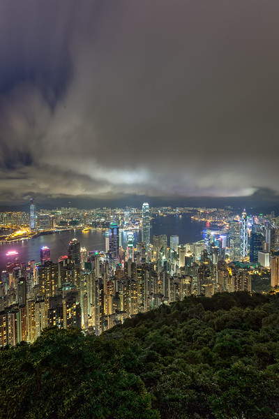 Overlooking Hong Kong from VIctoria Peak on a Clear Night
