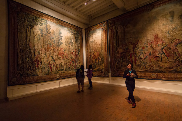 The inside of Chambord was relatively sparse (since it was so large!), but in a few rooms, tapestries decorated the walls and made for some intesting views.
