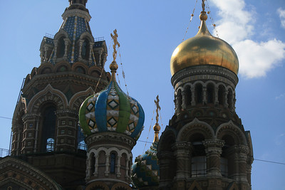 Onion domes on Church of the Spilled Blood.