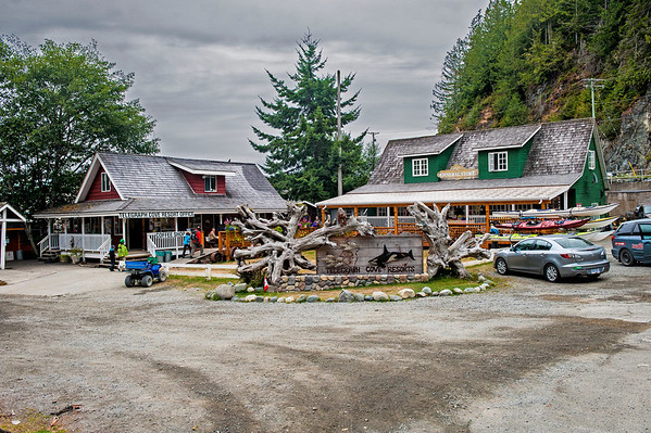 Telegraph cove resort office and general store.