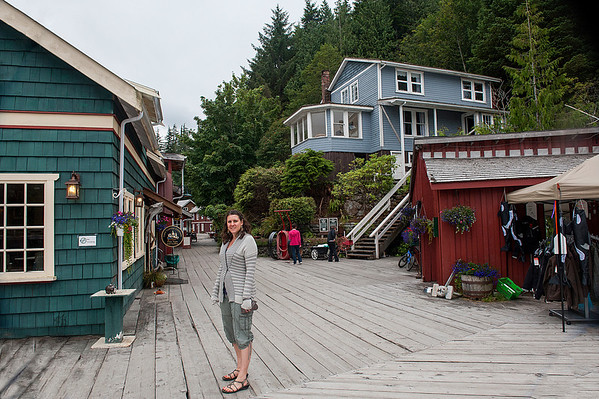 We stayed in the blue home on hill, former residence of Fred Wastell who built a cannery and saw mill at this site.