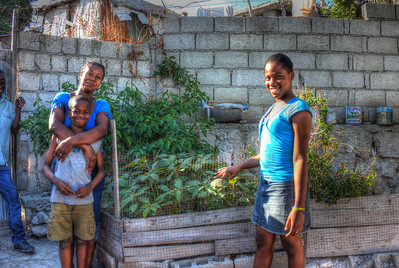 MicroGarden initiative in Port au Prince Haiti