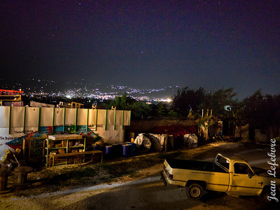 Starry Night over Port au Prince with our compound n the foreground