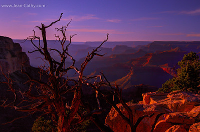 Sunset on the south rim of the Grand Canyon. October 2011