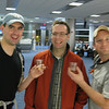 Aaron, Dan and Craig in the Miami airport - slightly out of focus, but happy!