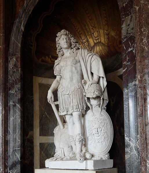 Statue of Louis the 14th.  War was in his blood.