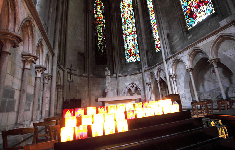 This area of the church is a memorial to Joan of Arc.