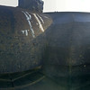 Panorama of a bunker close to the coastline.