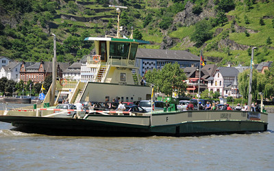 Rhine River car ferry