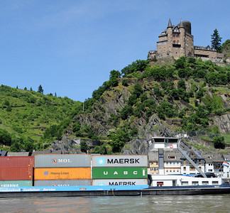 Rhine River barges 04