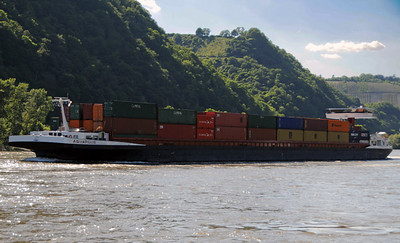 Rhine River barges 07