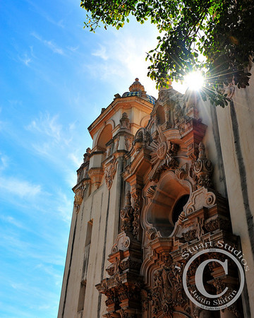 Balboa Sunburst  A warm day at Balboa Park in San Diego, California.  Ago vita vos somnium (live the life you dream)