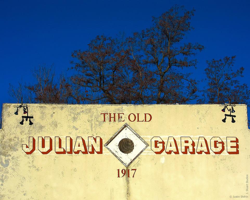Julian Garage Est. 1917<br /> <br /> Happy New Year from Julian, California!<br /> <br /> <br /> January 1, 2010