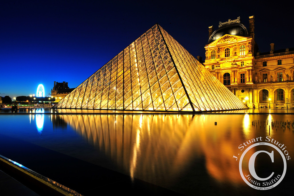 Soft Pyramid, Last Light<br /> <br /> Simply stated, this photograph was taken in Paris right before the sky turned fully to black.  <br /> <br /> Ago vita vos somnium (live the life you dream)