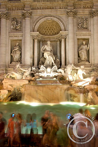 Timeless Trevi  Digital cameras and rushing crowds are interestingly juxtaposed against the everlasting Trevi Fountain in Rome.     Ago vita vos somnium (live the life you dream)