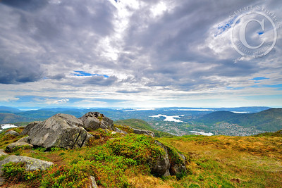 Top of the Bergen to You!  The vistas in every direction were remarkable.  Thankfully after a long hike, my neutral density filters were enough to bring out the clouds' detail and provide a backdrop to preserve wonderful memories!   Ago vita vos somnium (live the life you dream)