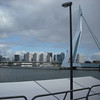 The beautiful Rotterdam bridge in front of our ship