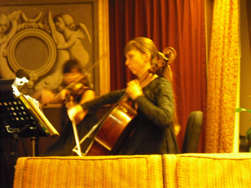 Cellist reminded us a little bit of Rebecca