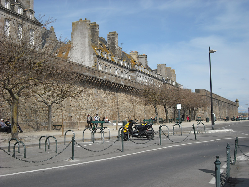 Other views of St. Malo, France, showing some of the walls that surround the city