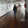 Walking around the Promenade Deck while waiting to disembark