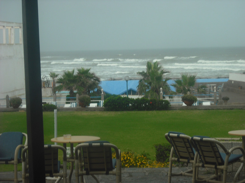 View of ocean from the hotel where we had a soda