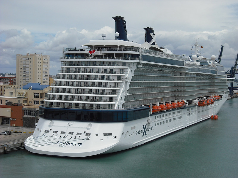 Celebrity Silhouette, docked next to us