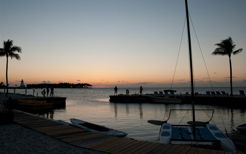 Tranquility Bay in the Florida Keys at sunset, Marathon, Florida
