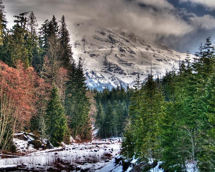 Kurtz Glacier of Mt. Rainier, Mt. Rainier National Park, Washington