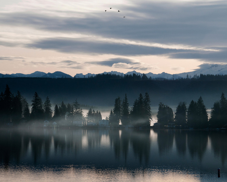 Clear Lake with Mt. Rainier and the North Cascade Range in the background, Washington