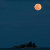 Super Moon over Sombrero Beach in the Florida Keys (Marathon Key), Florida
