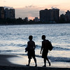 Sojourners along the beach in Isla Verde, Puerto Rico