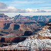 Grand Canyon after a fresh snow fall, from Mather Point, Grand Canyon South Rim, Arizona (cropped for 11x14 print)