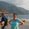 On the beach at Oludeniz, supposedly the most photographed beach in the world. Also, leider, a British tourist mecca.