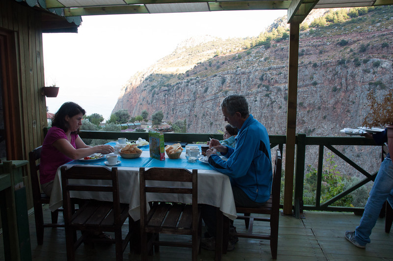 Meal overlooks.  The meals were excellent and so was the view.