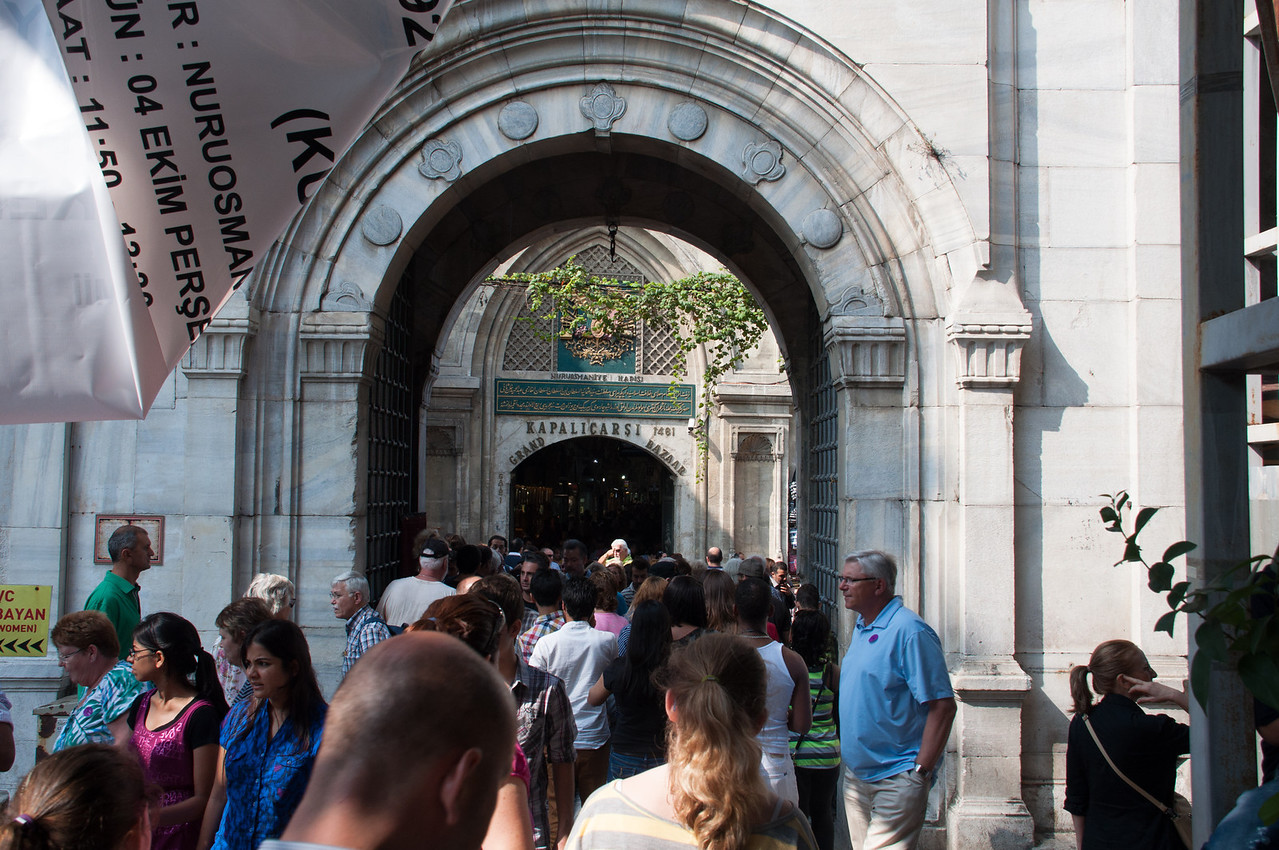 Entering Grand Bazaar.